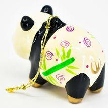Handcrafted Painted Ceramic Panda Bear Confetti Ornament Made in Peru image 3