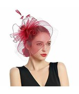 Women Fascinators Kentucky Derby Hair Clip Headband Wedding Tea Party Hat - $55.45