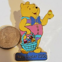 Disney Pin Happy Easter 2002 Winnie the Pooh Standing with Easter Egg - $9.74