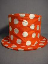 RED POLKA DOT TOP HAT KID SIZE NEW - $6.63