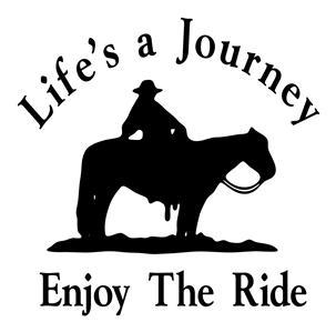 Life is a Journey Enjoy The Ride!!  Horse Decal Trailer