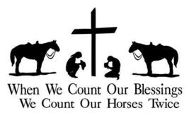 Praying Cowboy & Cowgirl Horse Decal Sticker Truck - $9.99