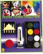 RUBIE'S DELUXE CLOWN COLLECTION MAKEUP KIT W/ CLOWN NOSE HALLOWEEN ACCES... - $6.63