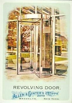 Primary image for Revolving Door trading card (Invention, Theophilus Van Kannel) 2010 Topps Allen