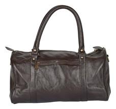 New 22 Cm Genuine Vintage Rustic Soft Leather Sided Black Travel Duffel ... - $73.52