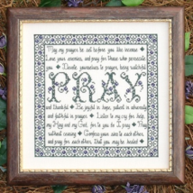 Building Blocks Pray MBT073 cross stitch chart My Big Toe Designs - $8.00