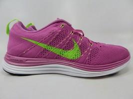 Nike Flyknit Lunar1+ Size 9.5 M (B) EU 41 Women's Running Shoes Pink 554888-631