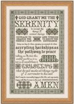 Serenity Prayer MBT074 cross stitch chart My Big Toe Designs - $18.00