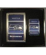 SEATTLE SEAHAWKS NFL CLASSIC LOGO CIGARETTE CASE / WALLET & LIGHTER GIFT... - $9.26