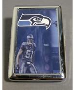 SEATTLE SEAHAWKS THEME SILVER CIGARETTE CASE NEW - $7.50