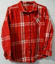 UG Apparel Womens Large Texas Tech Lubbock Plaid Shirt Red White Black F... - $24.74