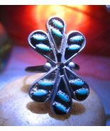 Haunted ring INTUITION SENSITIVE NATIVE BLESSING magick TURQUOISE 925 Ca... - $58.77