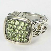 John Hardy Classic Chain Lava Ring Green Peridot Sterling Silver Sz 6 NW... - $310.40