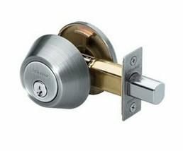 Master Lock Single Cylinder Deadbolt Satin Nickel DSO0615 - $6.50