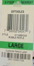 Morgan Taylor Intimates Bubble People Adult Large Pajama Set Grade B image 8