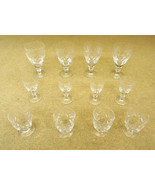 Etched Crystal Wine Glasses (3 sets of 4) - $87.29