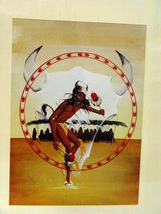 Oglala Souix Artist Two Eagles Original Print Buffalo Dancer - $10.99