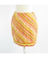 Mustard yellow pink diagonal striped 100% cotton EMILIO PUCCI pencil ski... - $144.99