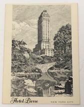 Old Vintage Steel Engraved Postcard Hotel Pierre New York City New York ... - $13.21