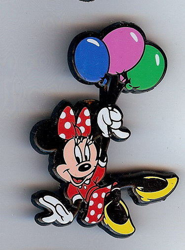 Disney Minnie Mouse with balloons English Pin/Pins