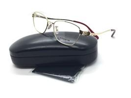 Coach Mujer Dorado Cuadrado Nuevo Gafas HC 5086 Burdeos 9297 50mm Metal - $79.97