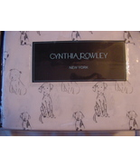 Cynthia Rowley Sketched Dogs Puppies Dalmatians on White Cotton Sheet Se... - $88.00