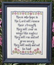 Hope In The Lord MBT084 cross stitch chart My Big Toe Designs - $8.00