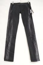 SOLD Design Lab jeans leather trim NWT 25 x 30 USA legging Soho skinny b... - $49.49