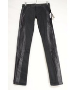 SOLD Design Lab jeans leather trim NWT 25 x 30 USA legging Soho skinny b... - $49.49