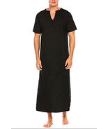 Ekouaer Mens Cotton Nightshirt Basics Night Shirt Long Sleep - Choose SZ... - $38.41