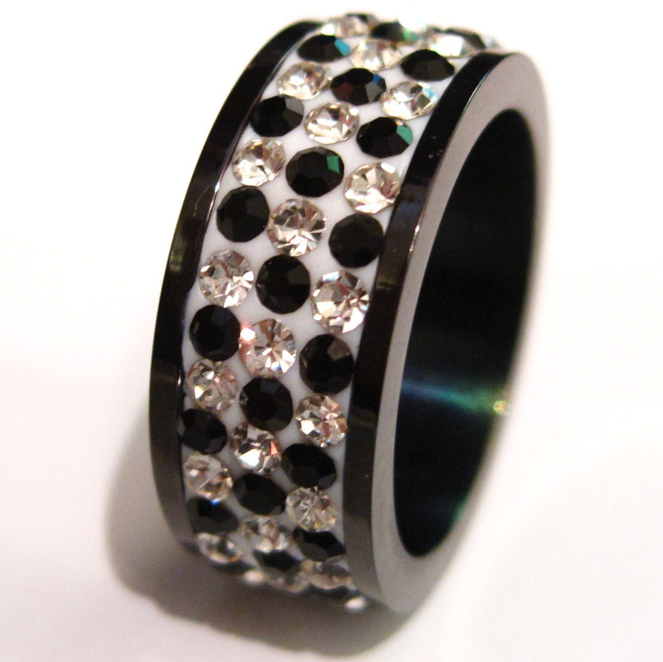 SSR4617  Black CZ Stainless Steel Ring  Unbranded