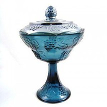 Indiana Glass Blue Carnival Harvest Compote with Lid - $69.30