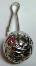 Silver Volleyball Ball Zipper Pull - 4pc/pack - $12.99