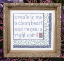 A Clean Heart MBT086 cross stitch chart My Big Toe Designs - $8.00