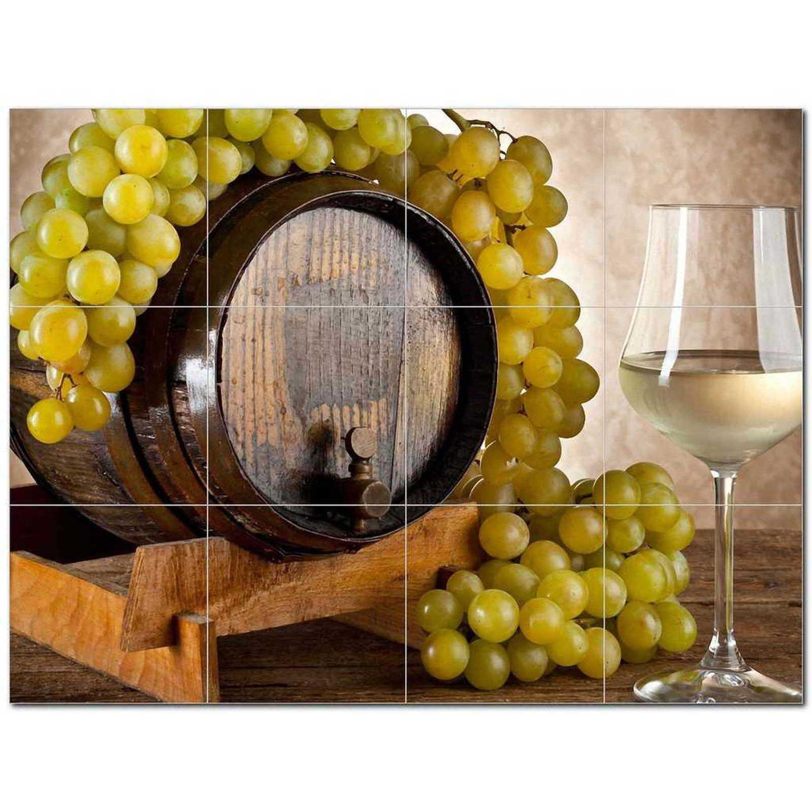 Primary image for Wine Grapes Ceramic Tile Mural Kitchen Backsplash Bathroom Shower BAZ406367