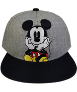 Disney Mickey Mouse 'Mickey Sitting' Embroidered New Grey Cap / Hat - $11.88