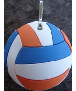 3D Rubber Volleyball Ball Zipper Pull Mixed Colors - 4pc/pack - $12.99