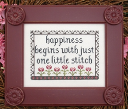 Happiness MBT090 cross stitch chart My Big Toe Designs - $8.00