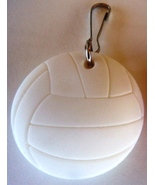 3D Rubber Volleyball Ball Zipper Pull White - 4pc/pack - $12.99
