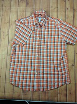 GAP Mens Plaid Short Sleeve Button Front Shirt 100% Cotton  Sz Medium Or... - $15.95