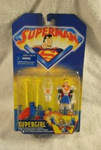 Superman Animated Supergirl Figure Aerial Assault Armor New In Box Kenner 1998 - $19.99