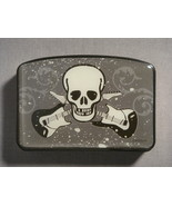 SKULL AND CROSS GUITARS DESIGN BLACK CIGARETTE SAVE-IOR CASE AND CUTTER NEW - $1.95