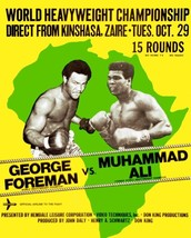 Muhammad Ali Vs George Foreman 8X10 Photo Boxing Poster Picture - $4.94
