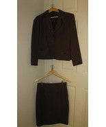 Women Suit Brown Blacker 2-Piece 6P - $34.99
