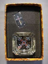 Skull With Crown And Cross Design Cigarette Lighter And Ashtray Gift Set New - $11.84