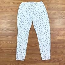 Womens Jockey Comfy Snowman Print Pajama Lounge Pants Size Large - $9.49