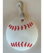 3D Rubber Softball Zipper Pull White - 4pc/pack - $12.99