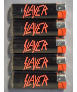 SLAYER LOGO REFILLABLE CIGARETTE LIGHTERS SET OF 5 NEW - $7.50