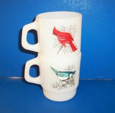 Fire-king Fireking Mugs Song Bird Mugs 2