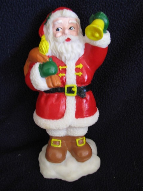 3 Vintage Toys 6 inches Rubber Toys Santa Elf Snowman Estate